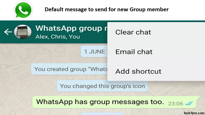 Default message to send for new Group member