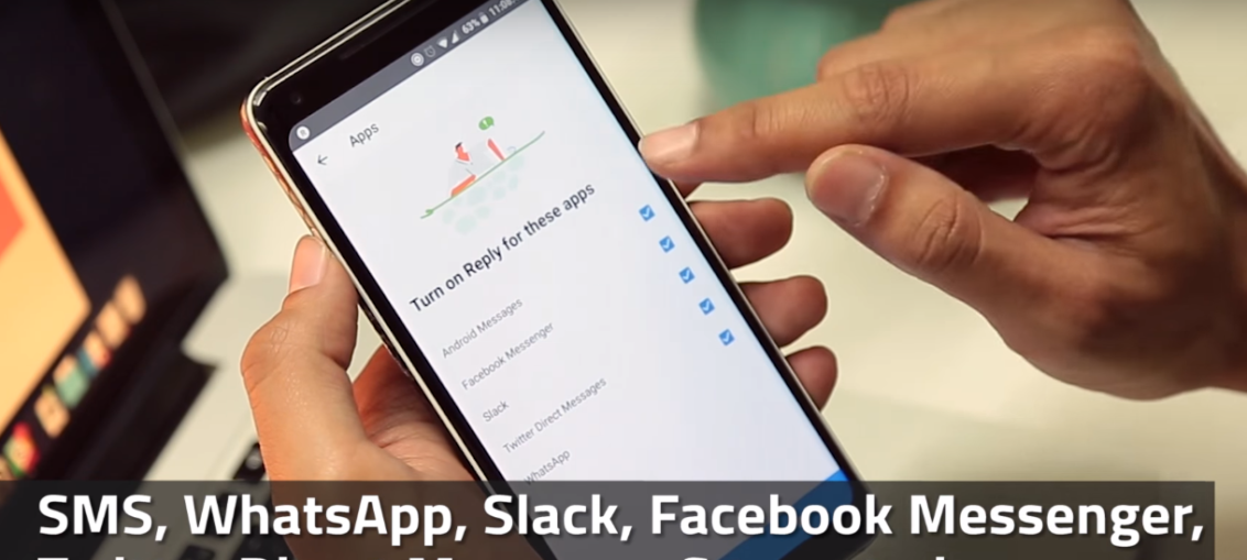 Google's new Reply app, messaging assistant