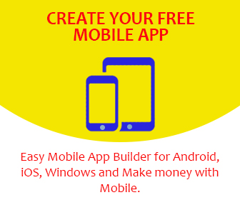 create your free mobile app